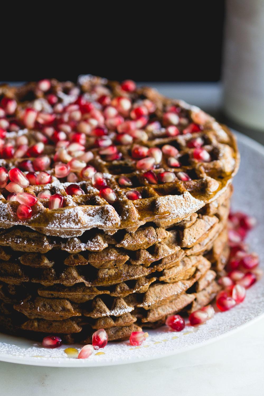Cocoa + Cardamom Waffles