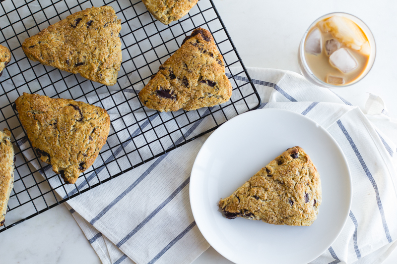 Cold Brew + Dark Chocolate Scones