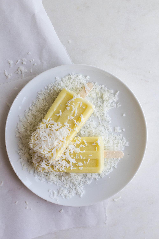 (Paleo) Pineapple + Coconut Popsicles | Sarah J. Hauser