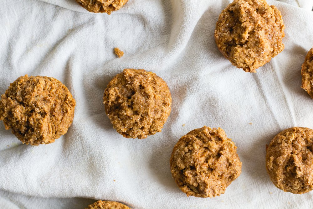 Whole Wheat, Oat + Sweet Potato Muffins