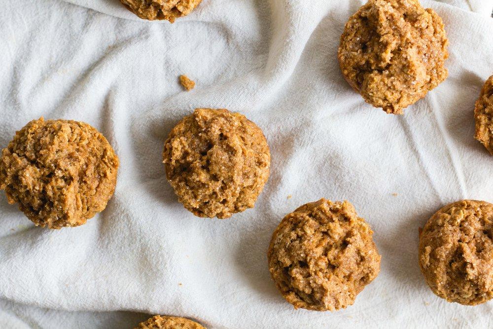 Whole Wheat, Oat + Sweet Potato Muffins