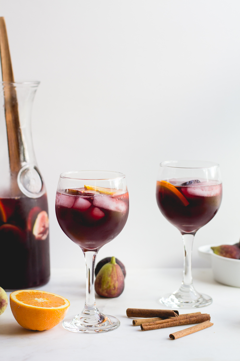 Sangria with Oranges, Figs + Cinnamon