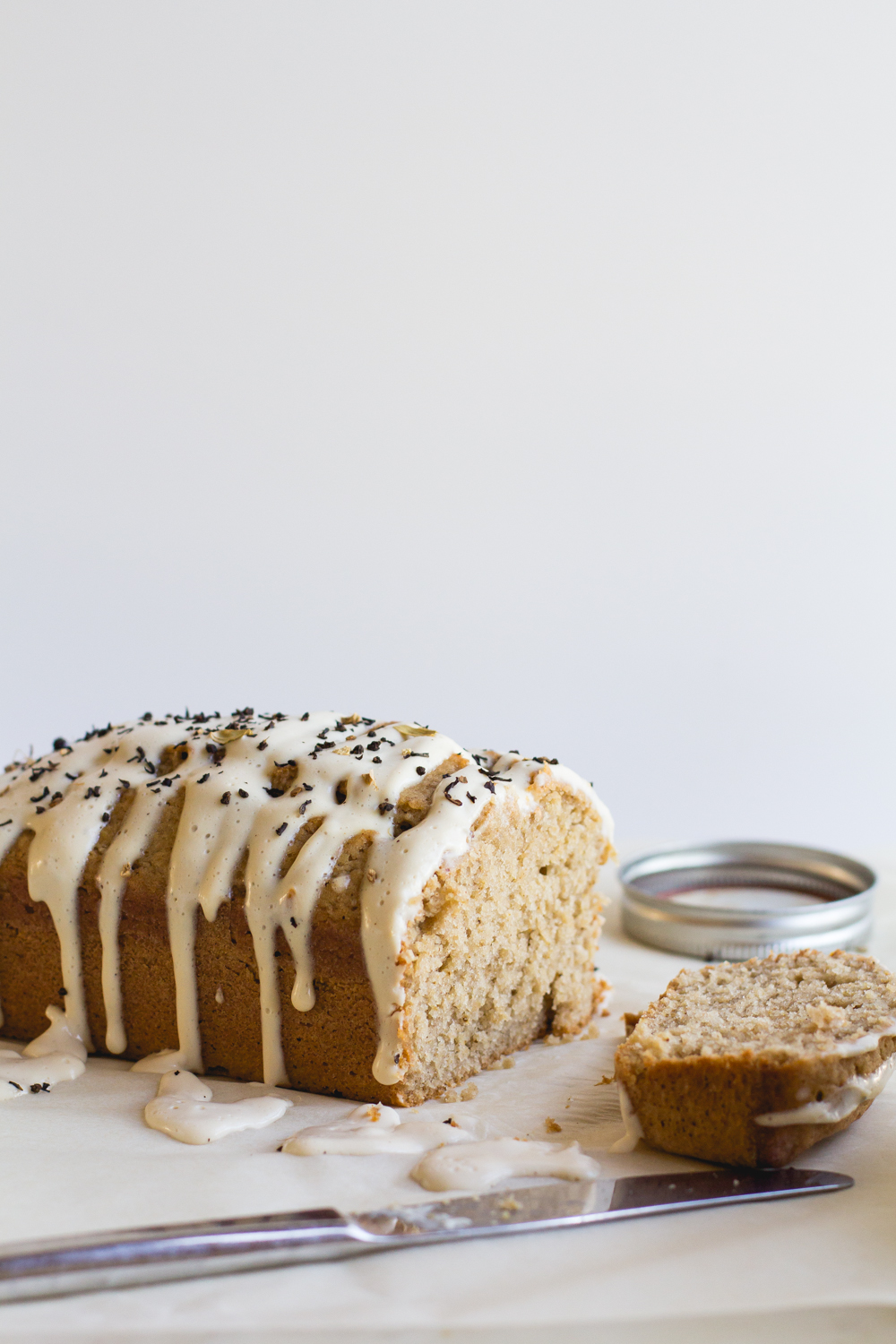Spiced Chai Bread with Cream Cheese Glaze