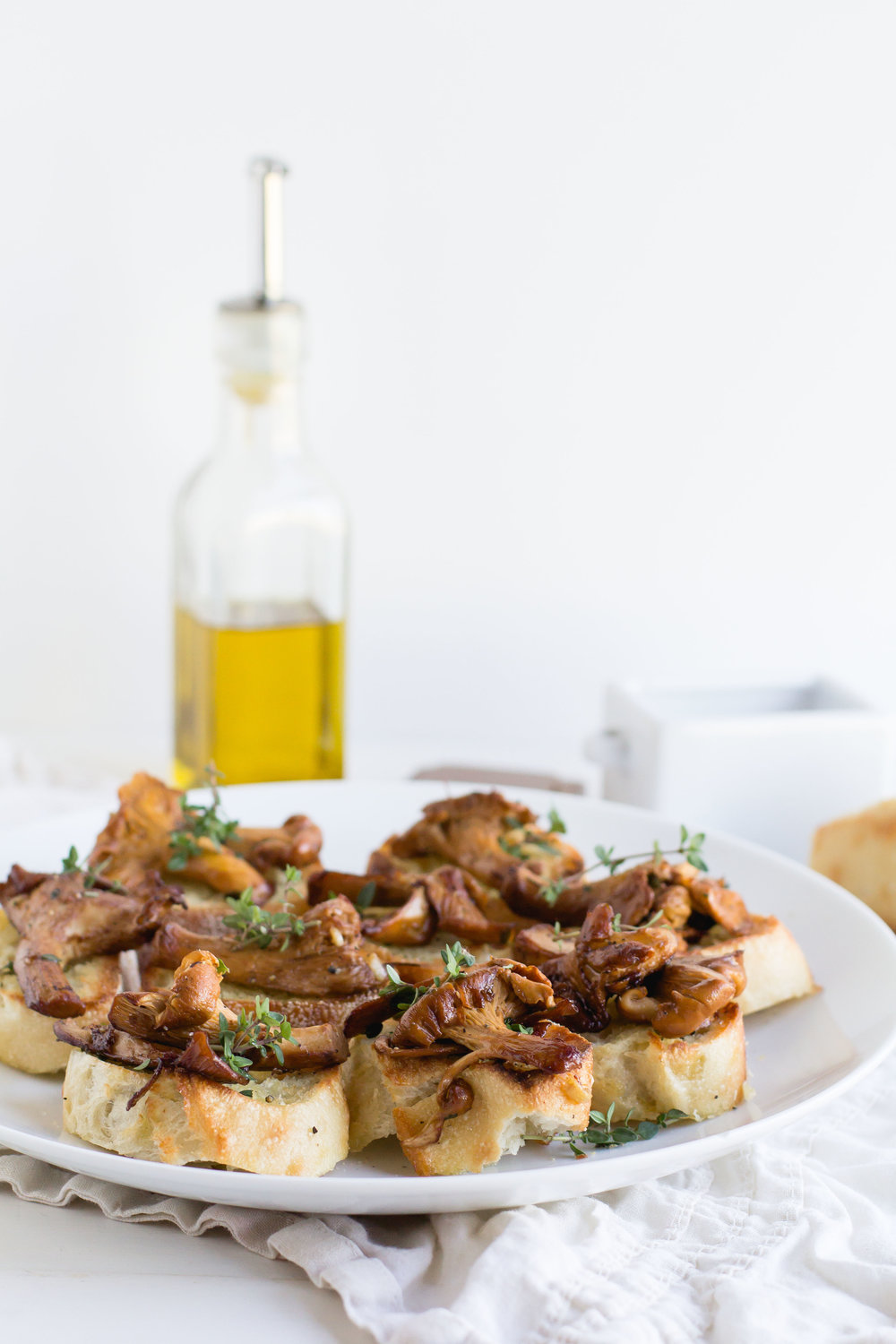 Crostini with Garlic Sauteed Chanterelles