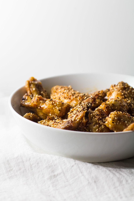 Orange + Toasted Sesame Chicken Wings | Sarah J. Hauser