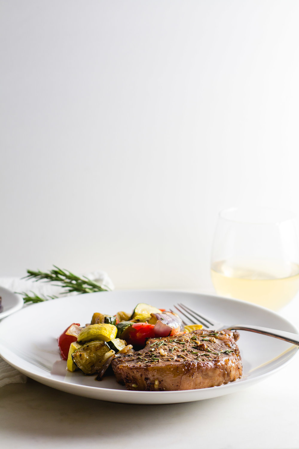 Sheet Pan Balsamic Pork Chops with Roasted Veggies - Sarah J. Hauser
