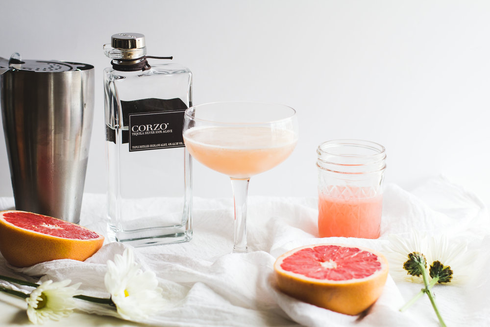 Grapefruit, Elderflower + Tequila Cocktail - Sarah J. Hauser