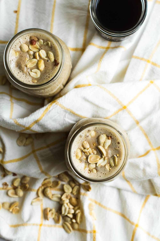 Coffee, Peanut Butter + Banana Smoothie - Sarah J. Hauser