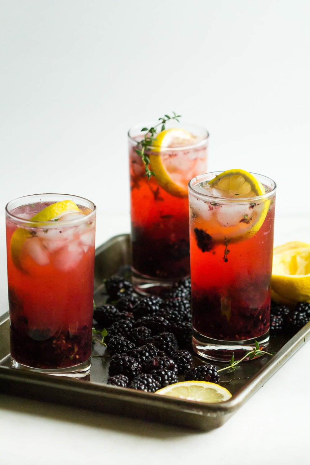 Blackberry-Thyme Vodka Collins - Sarah J. Hauser