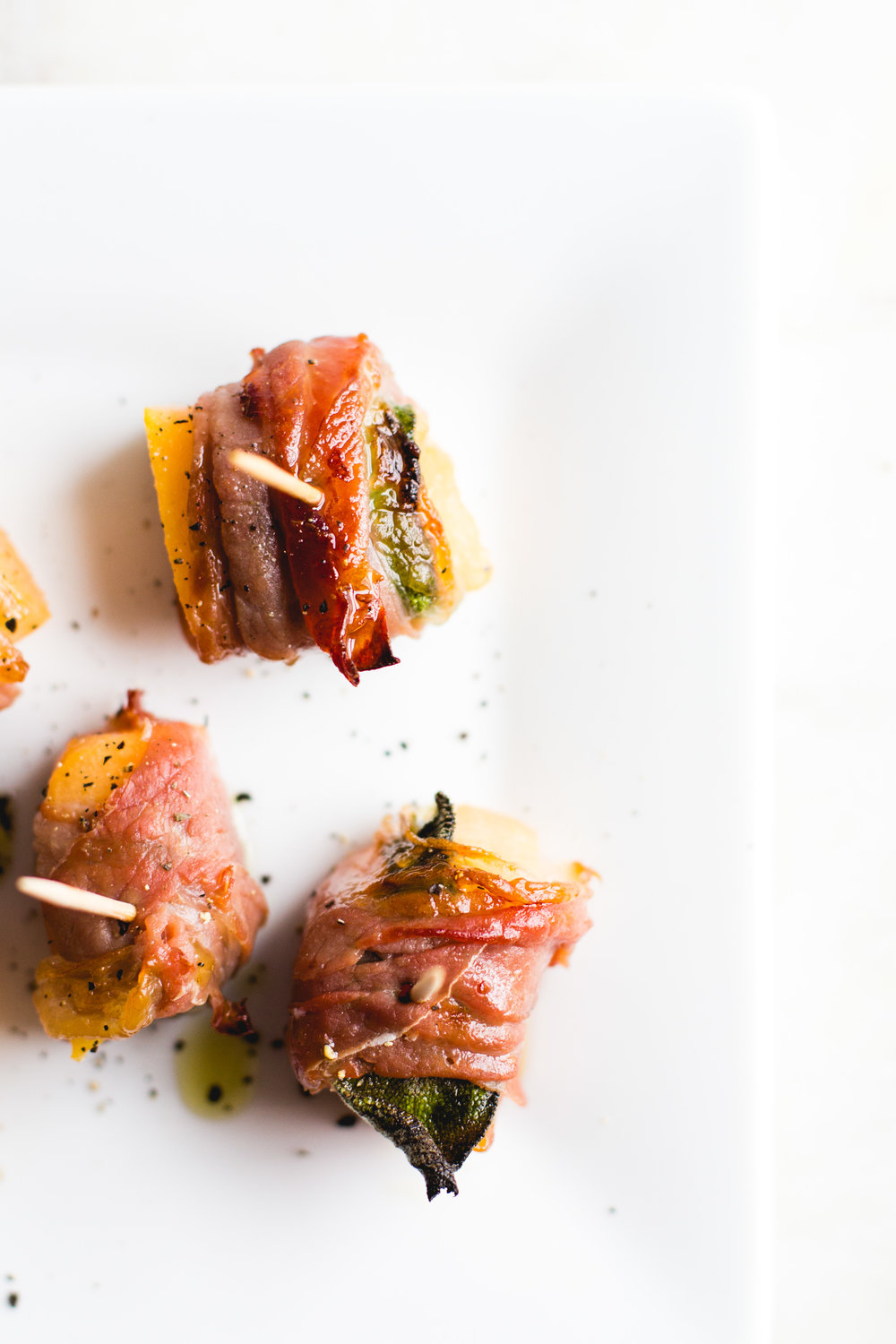 Prosciutto Wrapped Melon with Sage + Black Pepper - Sarah J. Hauser