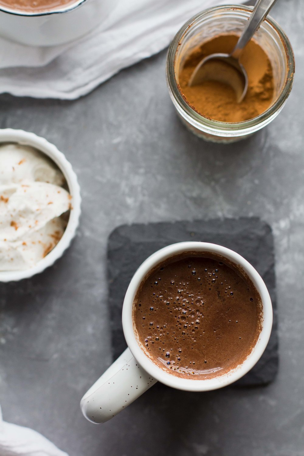 (Paleo + Vegan) Maple-Cinnamon Hot Chocolate | Sarah J. Hauser