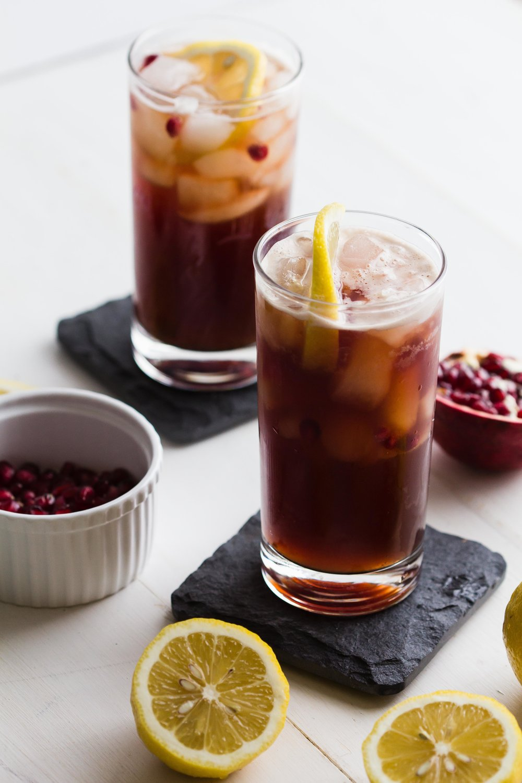 Cold Brew + Pomegranate Soda | Sarah J. Hauser