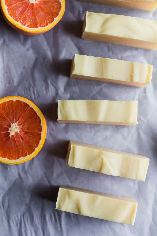 Orange, Tea Tree + Cocoa Butter Cold Process Soap | Sarah J. Hauser