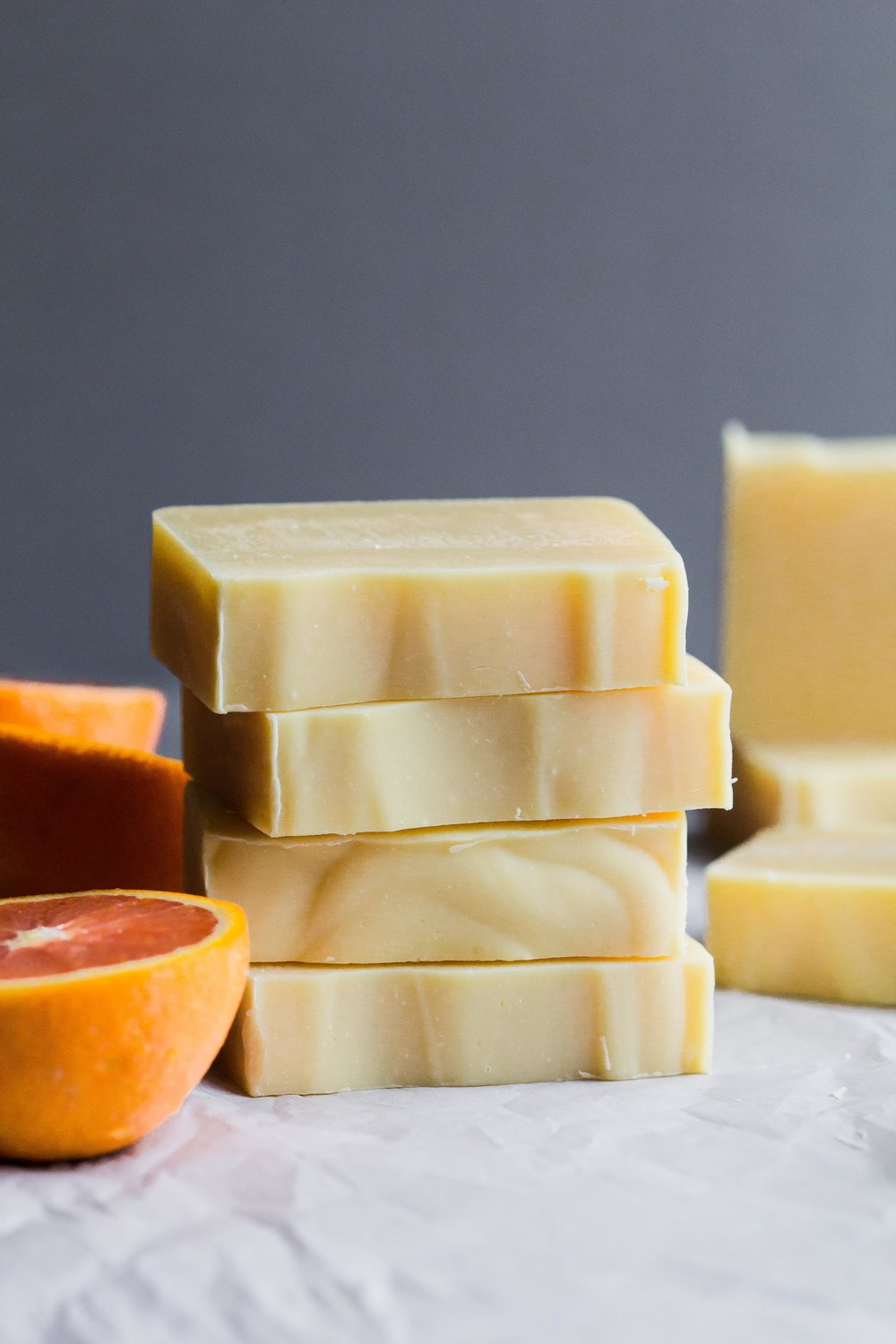 Orange, Tea Tree + Cocoa Butter Cold Process Soap | Sarah J. Hauser