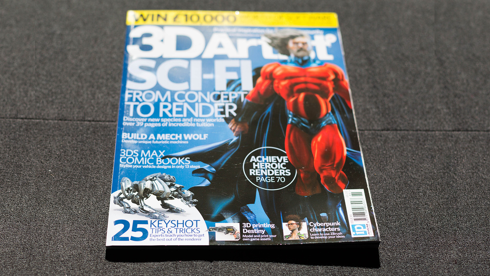 I'm honored to have contributed to the 25 KeyShot Tips & Tricks of 3D Artist, issue 85