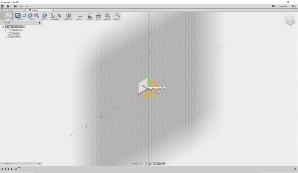 Fusion 360's clean, simple user interface.