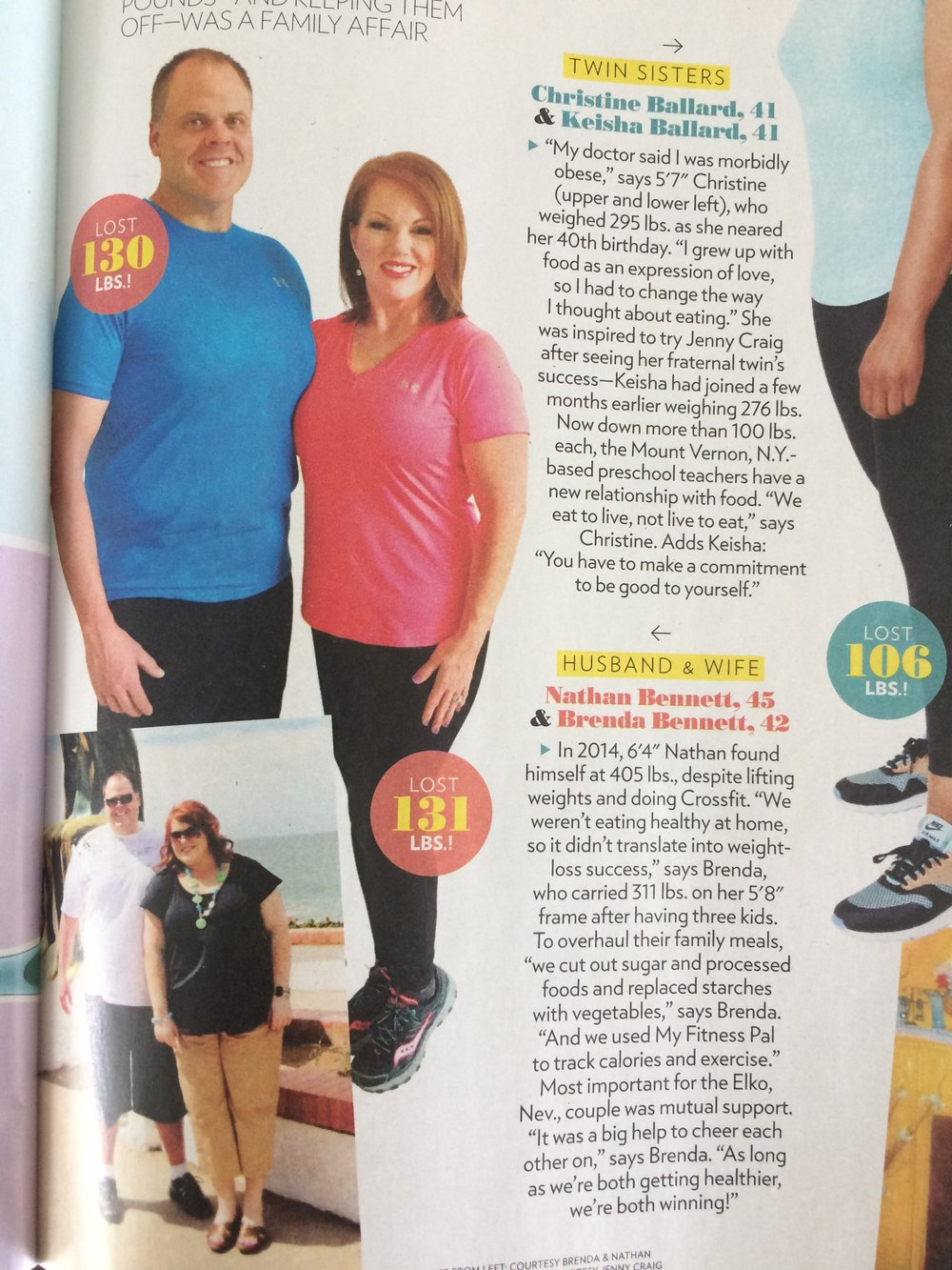 Bodyjoy - Slim Down Challenge participants Brenda & Nate Bennett are featured in People Magazine!  See my Instagram for how YOU can win a FREE spot starting June 5th or register at www.mindybuxton.com!