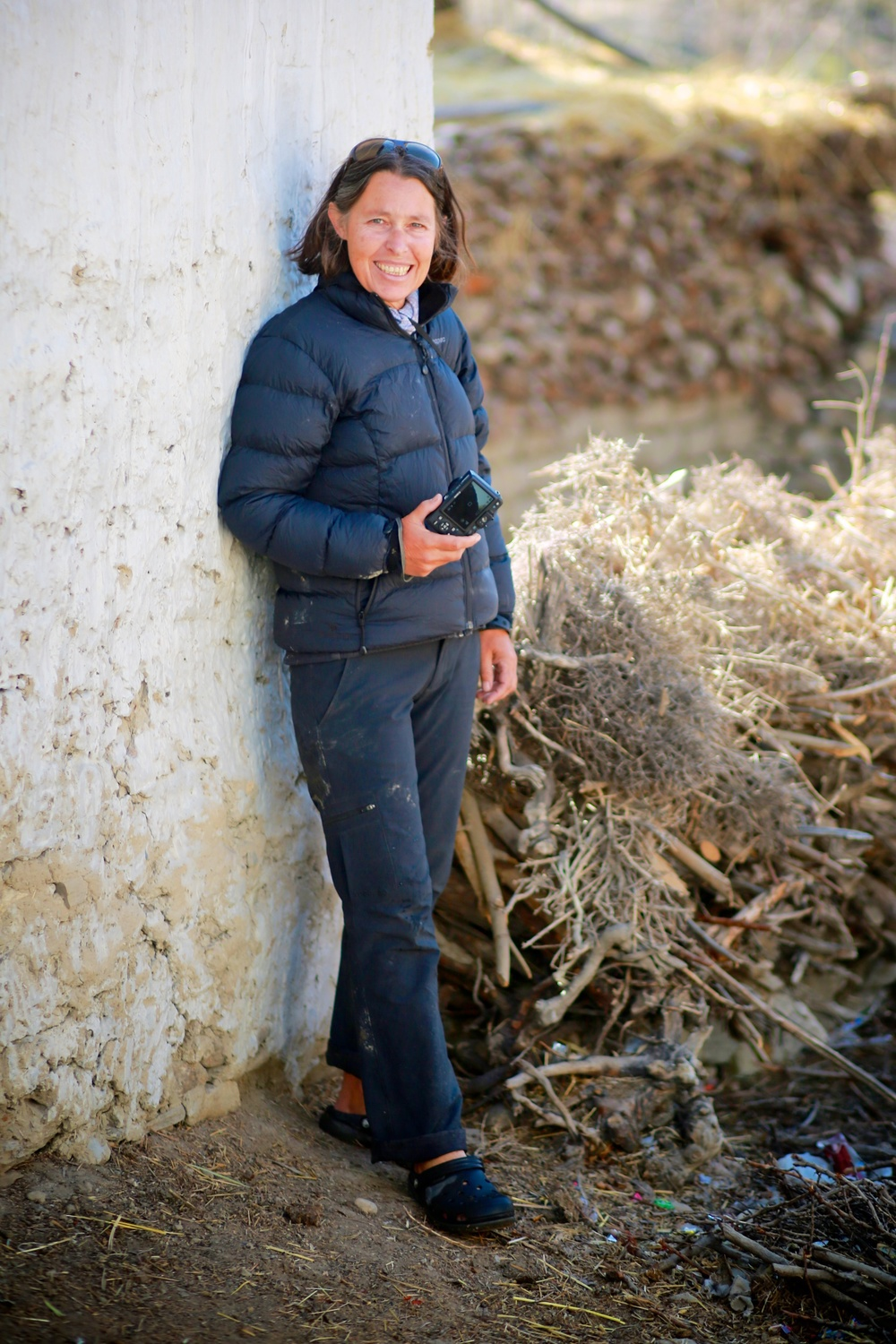 Anne Taylor in Mustang area, Nepal.