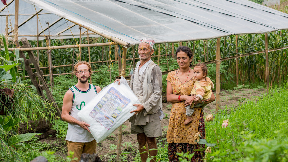 The second greenhouse established by Micro Care Nepal in Necha.