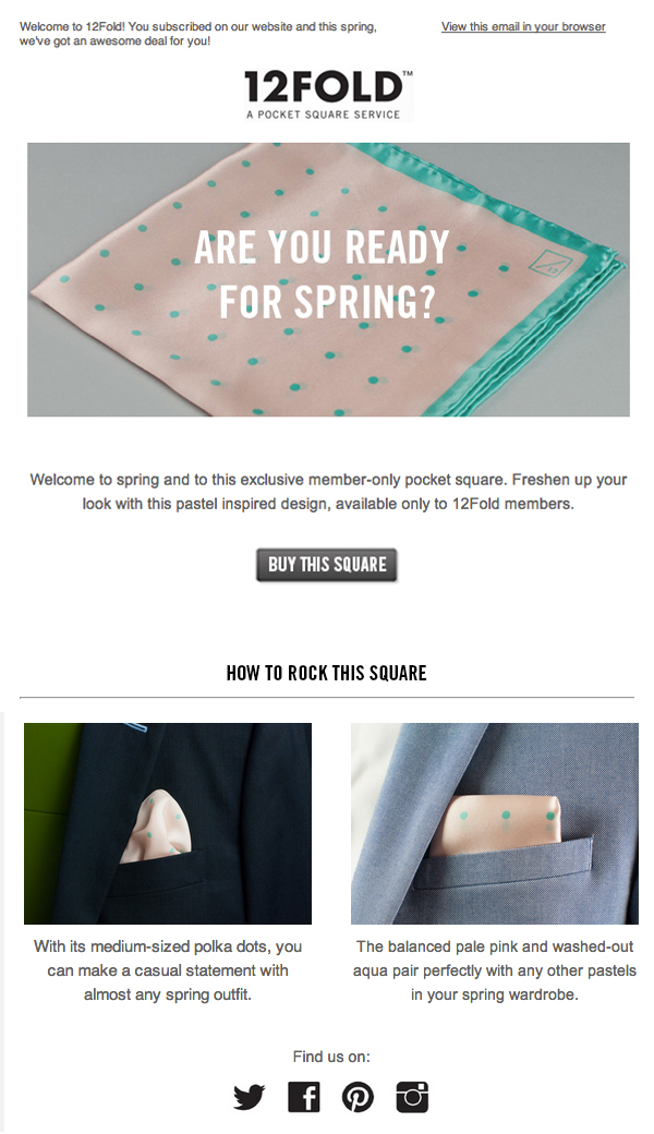 SPRING EMAIL MARKETING CAMPAIGN