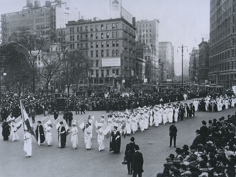 Women's suffrage parade in New York City, 1912 Source: National Archives and Records Association