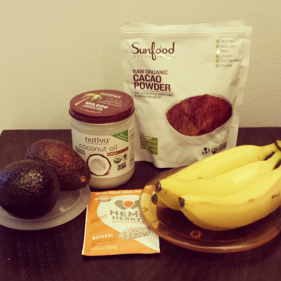 Ingredients for Raw Cacao Smoothie