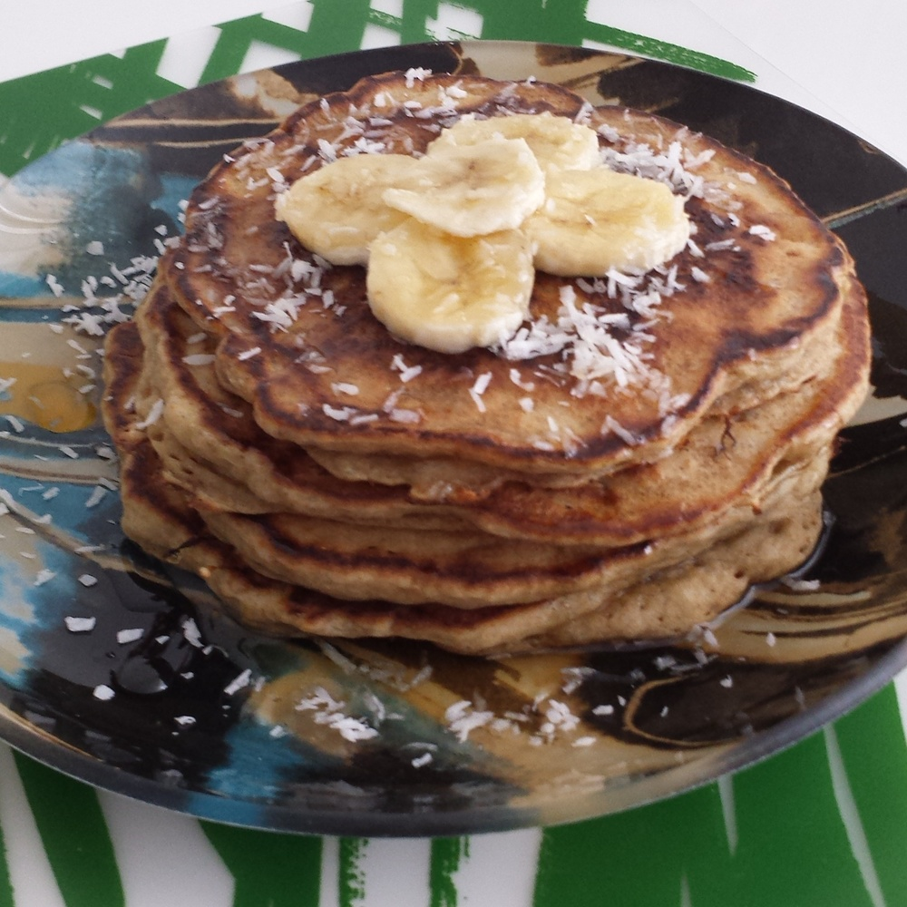 Gluten Free Coconut and Banana Pancakes