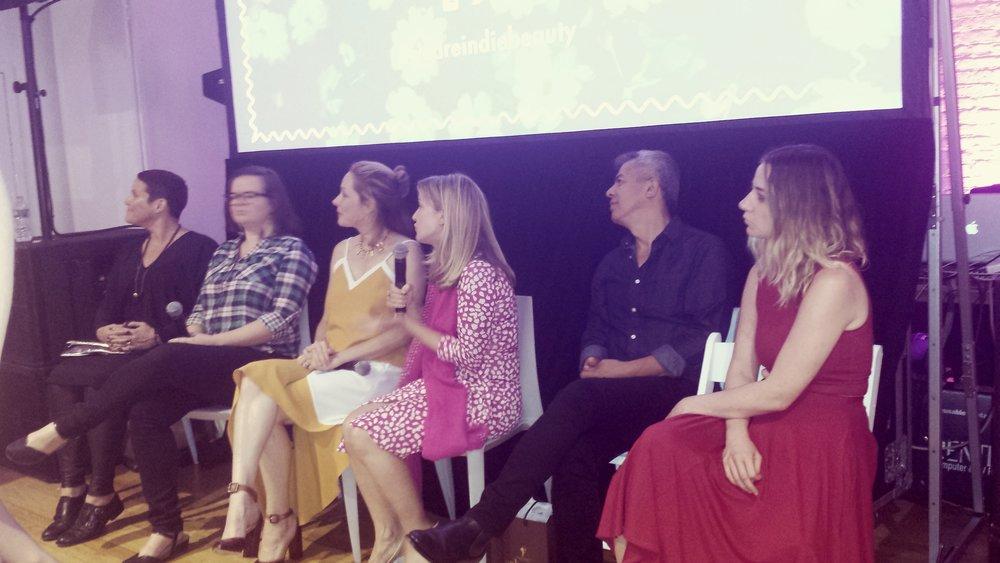 Panel con Shirley Pickson de Well People, Adina Grigore de SW Basics, Tata Harper, Fabian Linguin de Rahua entre otros.