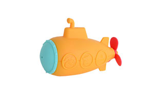 This submarine shaped toy is among the new bath products being shown by Marcus & Marcus this week at ABC.