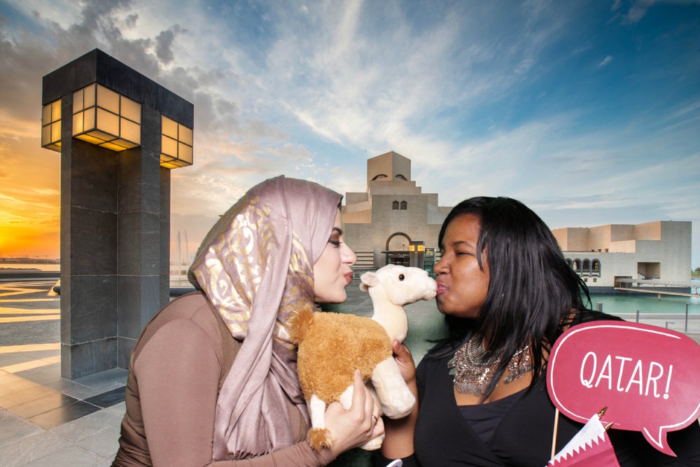 QATAR NATIONAL DAY | HOT PINK PHOTO BOOTH