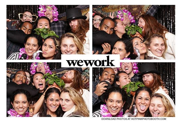 @wework 777 Opening Party!!! #wework #hotpinkphotobooth