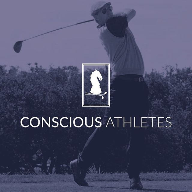 Throwing it back with one of our favorite brand designs we got to do for Conscious Athletes. This logo was so much fun to come up with, and there's nothing quite like a photoshoot on the green ⛳️