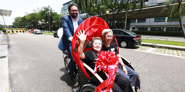 Zendesk CEO, Mikkel Svane, taking two seniors out for our inaugural ride.