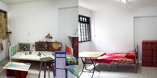 Before and after of one apartment.