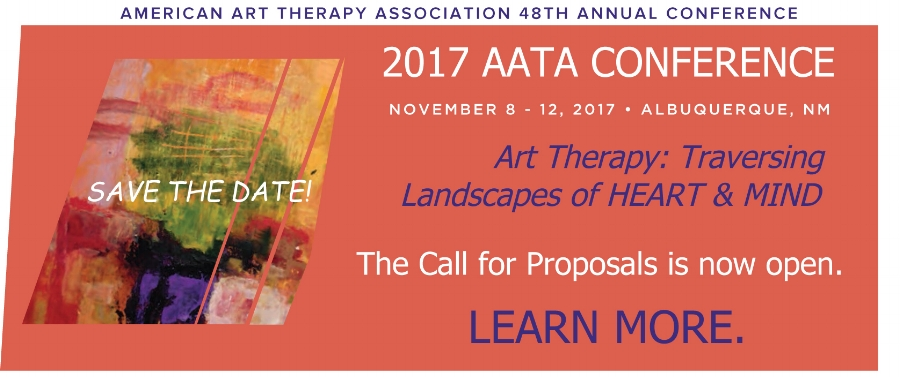Visit http://arttherapy.org/aata-conferences/ for more information about the upcoming conference.