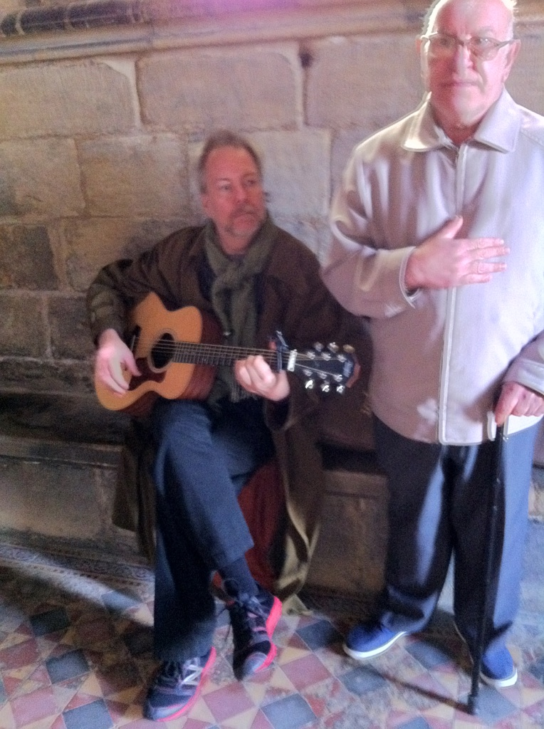 An impromptu public performance at the Tyneside Priory, Newcastle UK . – Lewis became an instant fan.