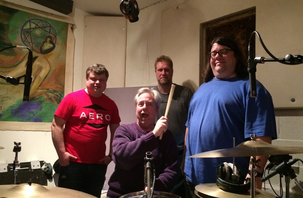 Another good night in the studio with Roman, David, Lurch & Scot