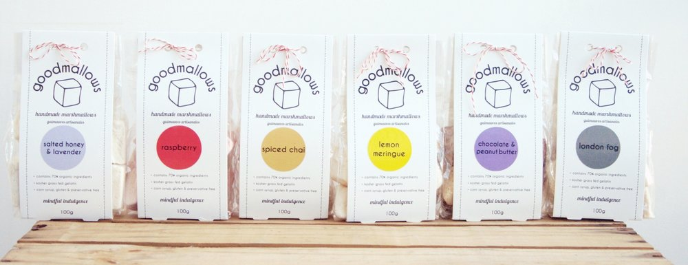 Goodmallows gourmet marshmallows all flavours