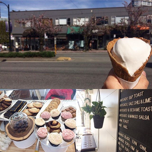 Vancouver just got a little friendlier today! Talk about timing--on the prettiest day of the year, what happens to open (and right on our delivery route today, wouldn't ya know it!) but @friendly_vancouver, a brand spankin' new spot for all your cravings (and incidentally all GF and vegan!). A collaboration of the brilliant ladies behind @smallflowercafe, @sayhellosweets and @zimtchocolates, they've got baked goods, scoops of DF ice cream, and chocolate, lots of chocolate. It's pretty damn cute in there too. Go check it out, before the rest of the world discovers it!!