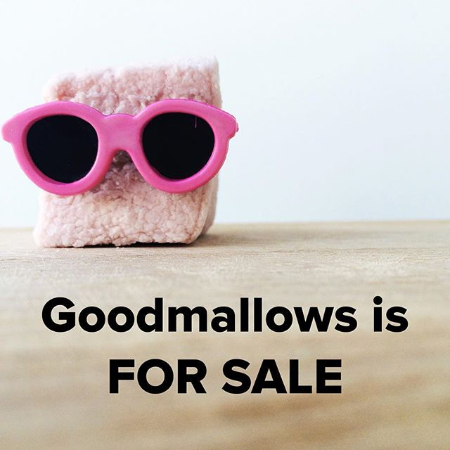 Goodmallows is for sale! If you're interested in joining the amazing Vancouver food community and taking on this sweet little (but growing!) business, please email us at goodmallows@gmail.com!
