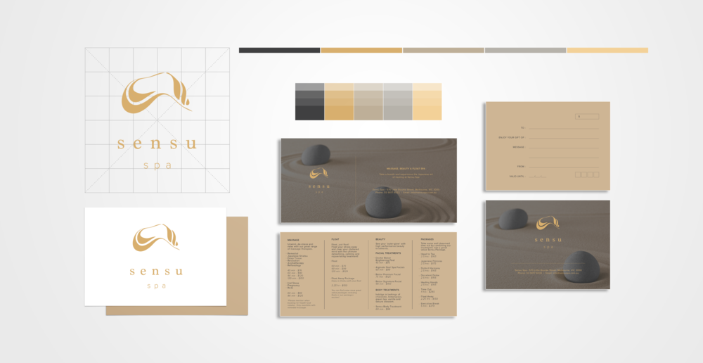 Sensu Spa Branding Design