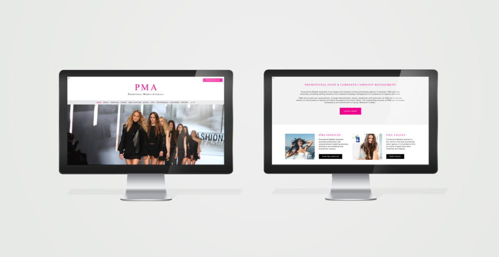 Promotional Models Australia - Website design