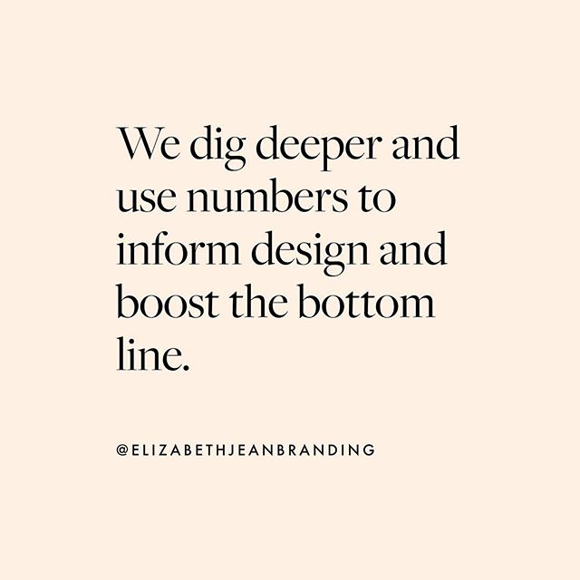 We dig deeper and use numbers to inform design and boost the bottom line. We're designers who are driven by numbers! We explore the figures behind your brand and discover areas for growth, helping you to identify opportunities and hidden potential you never knew existed. Our holistic approach to your brand means we dig deeper to truly understand it's direction and incorporate this into our creative decisions to help increase profit growth. This makes us savvy and economical, and a dedicated design partner for your brand. 🖤 EJB admin@elizabethjeanbranding.com . . . #graphicdesign #graphic #graphicdesigner #logo #logotype #logodesigner #pink #brandidentity #customlogo #ambition #goals #monochrome #inspired #beauty #bosslife #brand #branding #nofilter #webdesigner #healthy #newbusiness #iloveart #businesslife #entrepreneurquotes #entrepreneurial #entrepreneurmindset #creativepreneur #motivation #lifestyle