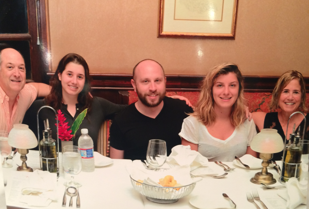 Dinner the night before the race with my Squad: Bob, Mia, Ken, Margot, and me.