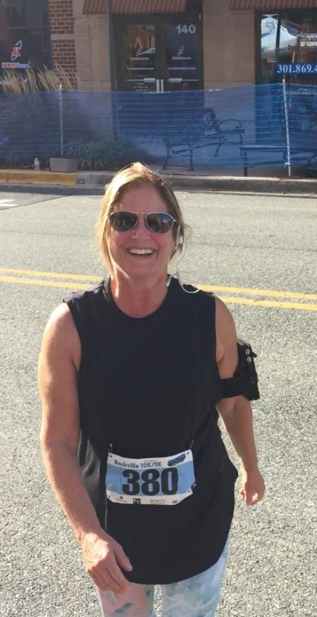 I loved racing in my new Nike Elevated Training Top at the Rockville 10K on Sunday. The tank has a loose fit and mesh in the back, so even though the weather was sunny and warm, I felt comfortable from beginning to end.
