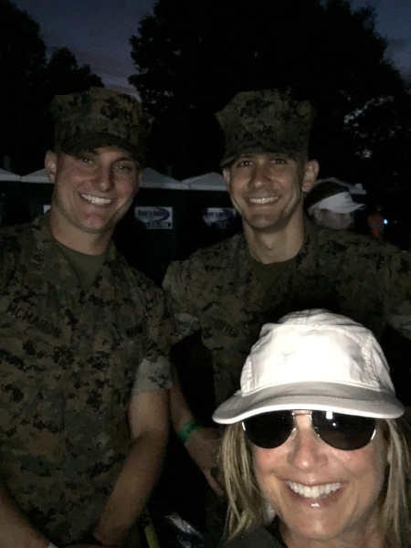 "Hangin out at the start with ""my marines"" :)"