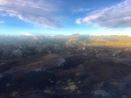 Moss covered lava rocks near the Blue Lagoon