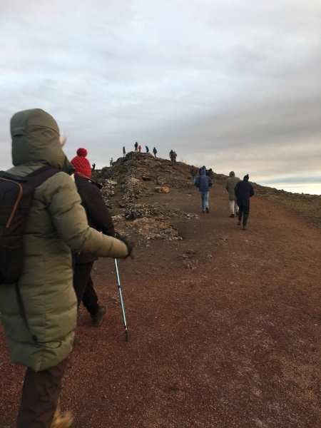 We came across people of all ages using high-tech trekking sticks. Nice.Keriðvolcanic crater