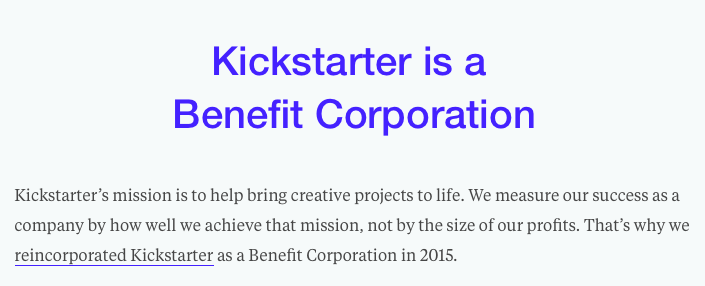 kickstarted-benefit-corporation