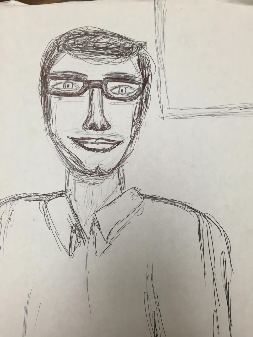 A student's classroom portrait